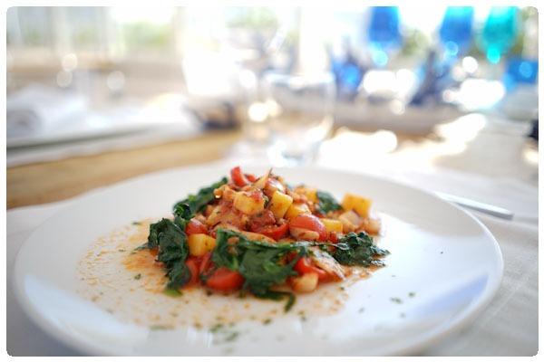 Gnocchi di patate cernia pomodorini e broccoli